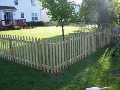 4 Foot Spaced Gothic Picket