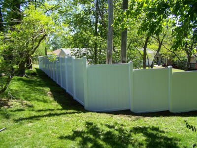 6 Foot White Vinyl Privacy