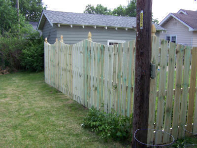 6 Foot Spaced Picket With Concave Cut And Gothic Posts
